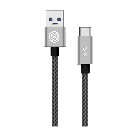 Кабель Nillkin Elite cable (USB 3.0 - Type C) 1 m, 3A Grey, серый