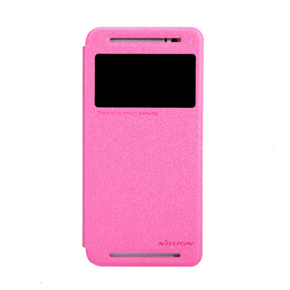 Чехол Nillkin Sparkle Leather для HTC One (E8) pink